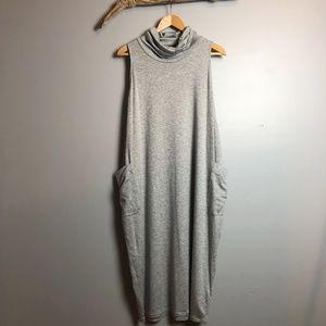Eileen Fisher Sleeveless Cowl Neck Romper Dress